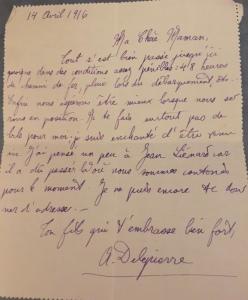 Lettre du 14 avril 1916